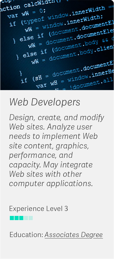 Career Match: Web Developers